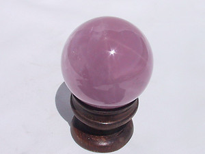 40 - 45 mm Lavender Rose Quartz Sphere