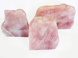 Rose Quartz, Bookends (2-3Kg) - 5 pairs