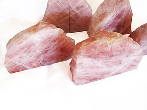 Rose Quartz, Bookends (3-5Kg) - 5 pairs