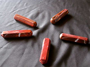 Petrified wood Massage tools - Prismatic Design 18pcs (flat)