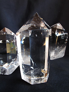 Crystal Quartz Prism (250-500g) - Polished - 40LB