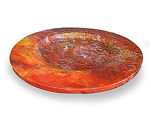Red Jasper Plates - Fancy Base - 12inch