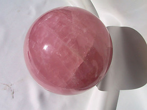Rose Quartz Sphere Gallery Piece