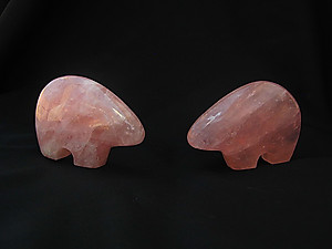 Rose Quartz Bear