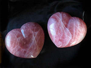 Red Rose Quartz Heart 7-8 inch