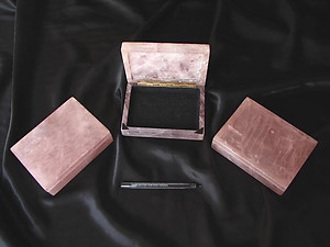Rose Quartz Jewellery Box