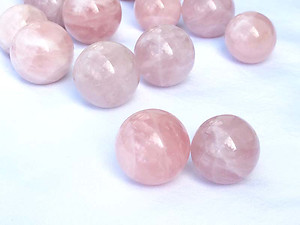 Rose Quartz Spheres 40-50 mm