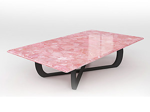 Rose Quartz Table Top (140 x 83 x 3 cm)
