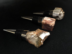 Petrified Wood Bottle Stopper - Rough Top