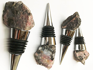 Rough Rhodonite Bottle Stopper