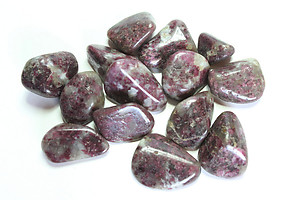Ruby Tourmaline Tumbled Stones - Small (18-25mm) - 1LB