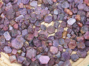 Corundum, Ruby, A Quality Specimens 100g