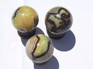 Septarian Spheres 55mm 2pc Lot