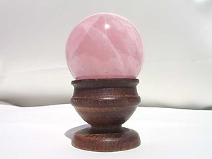 Star Rose Quartz Sphere (45mm)