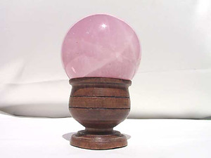 Star Rose Quartz Sphere 55 mm