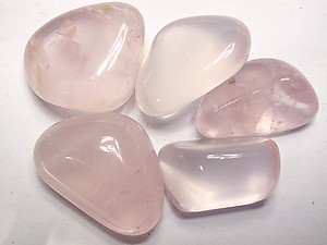 Star Rose Quartz Tumbled Stones - Medium (30-45mm) - 1LB