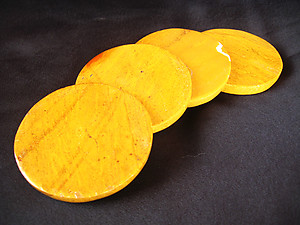 Yellow Jasper Coasters - 5 Sets of 4 pcs