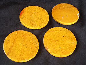 Yellow Jasper Coasters - Set of 4 pcs