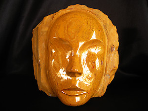 Yellow Jasper Face - 2pcs