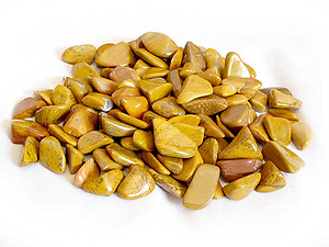Yellow Jasper Tumbles Stones - Small (18-25mm) - 1LB Bag