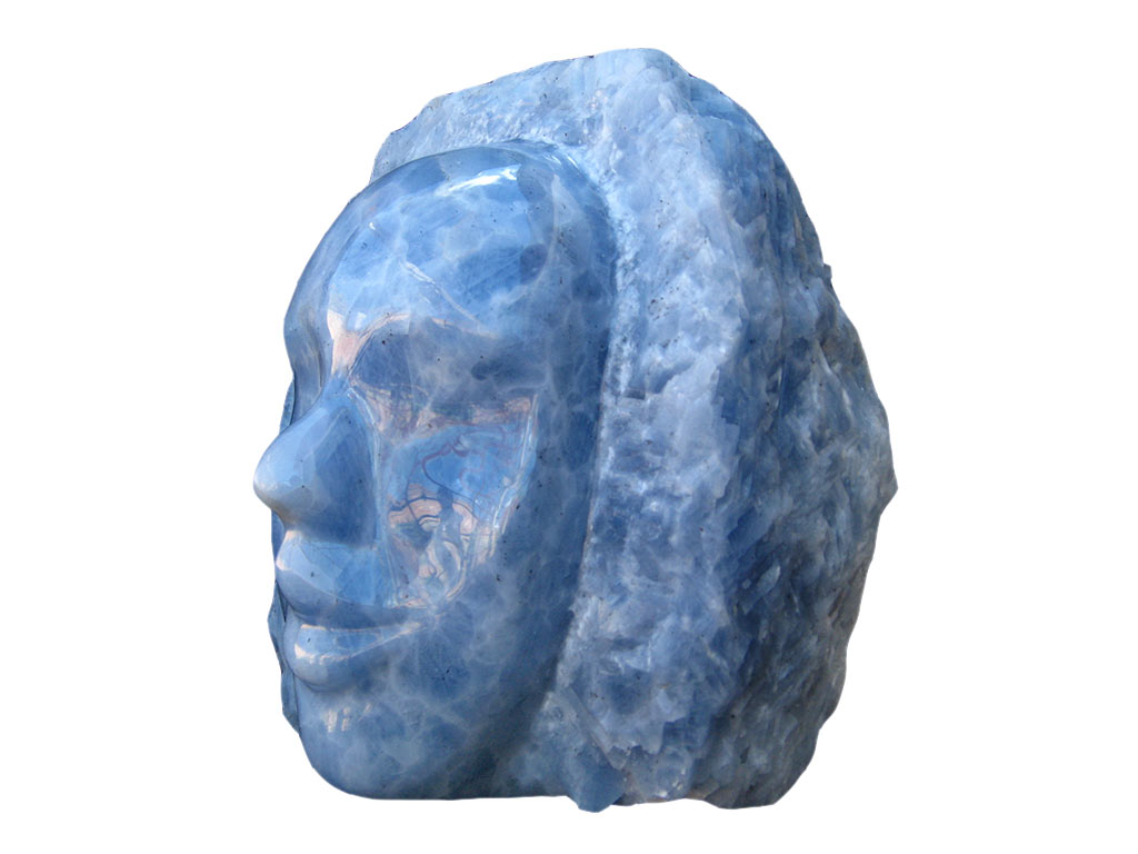 Blue Calcite Face