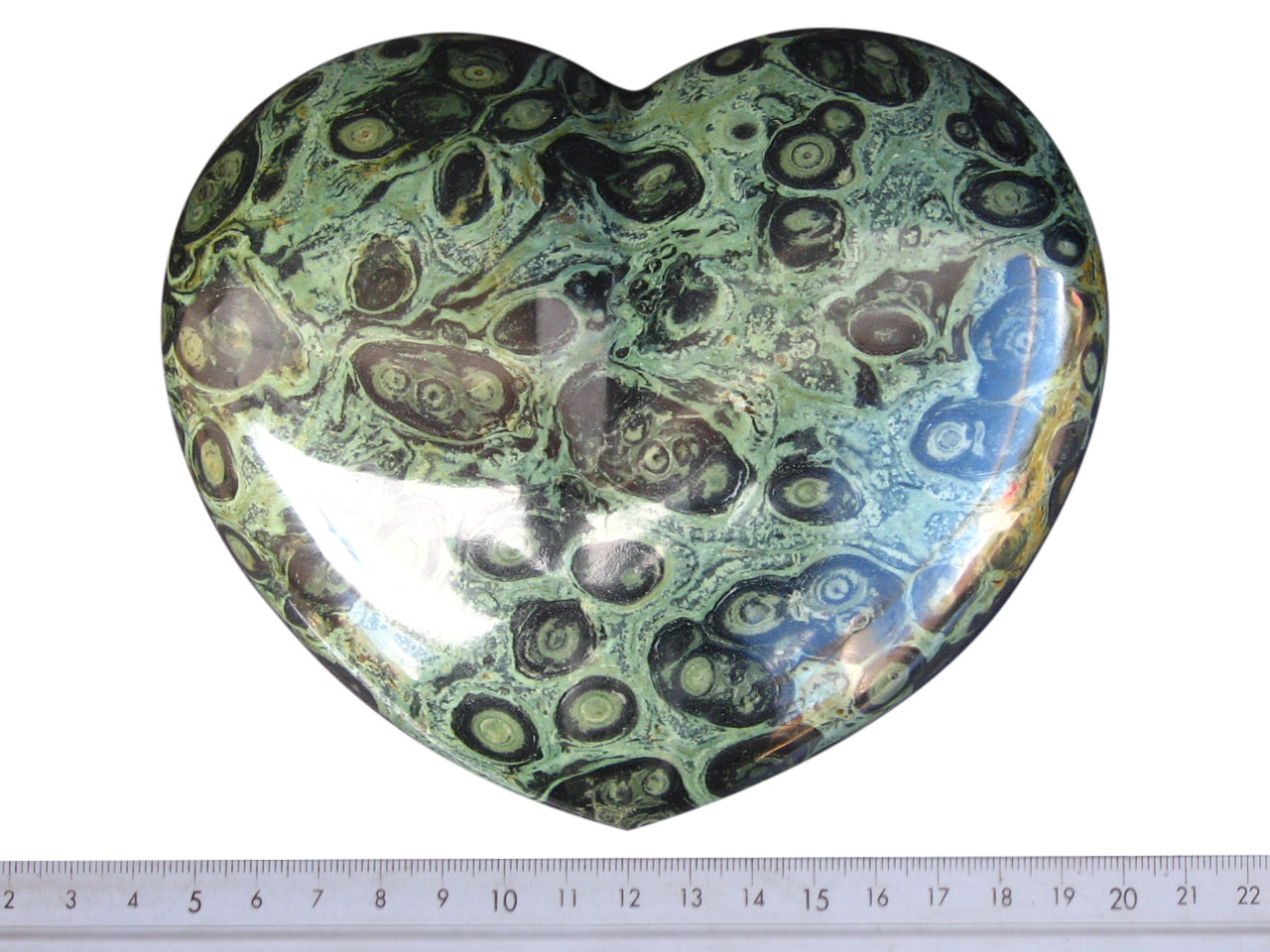 Crocodile Jasper Heart 6 inch