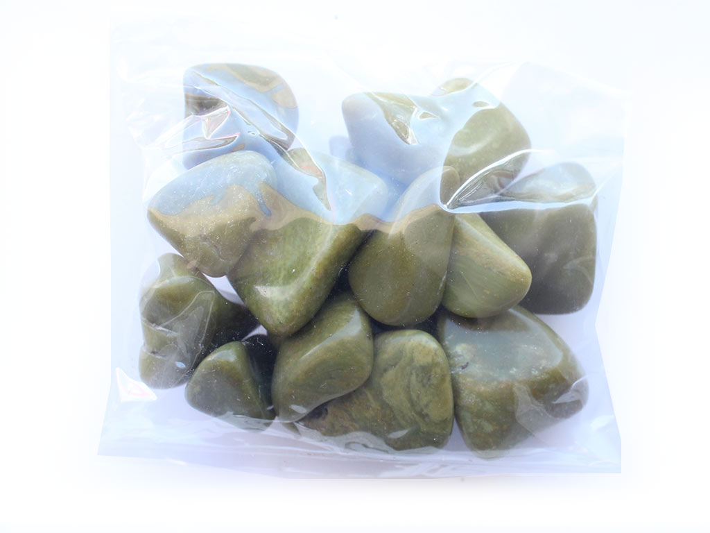 18-25 mm Green Opal Tumbled Stones