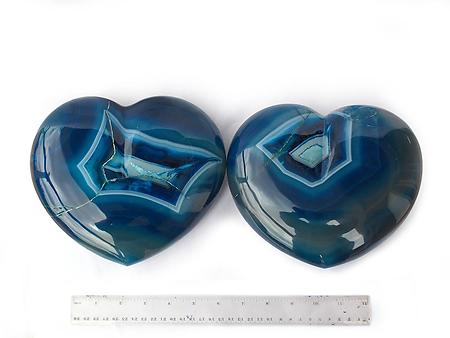 Blue Agate Heart - Large - 7-8 inch