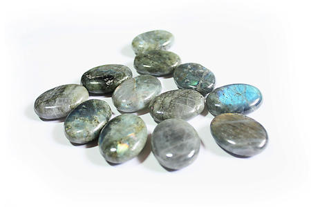 Peacock Blue Labradorite Oval Shapes