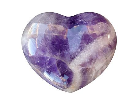 Banded Amethyst Large Decorative Heart