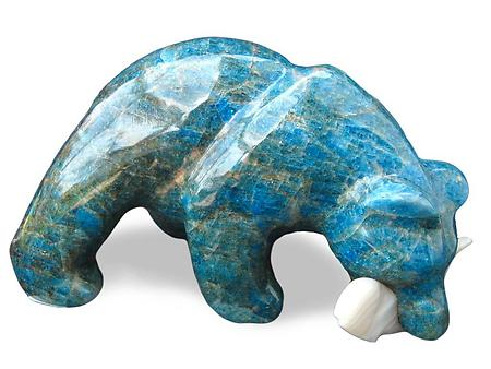 Apatite Bear Eating Fish