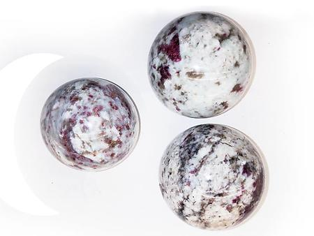Ruby Tourmaline Spheres 60mm