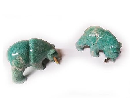 Amazonite Bear Eating Fish