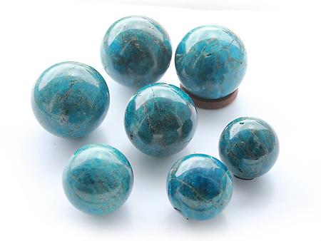 Apatite Spheres (60mm) - AA Quality