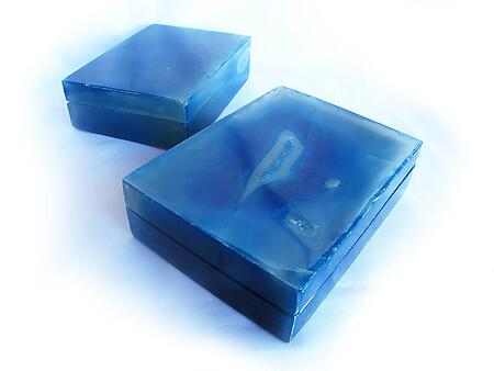 Blue Agate Jewelry Boxes