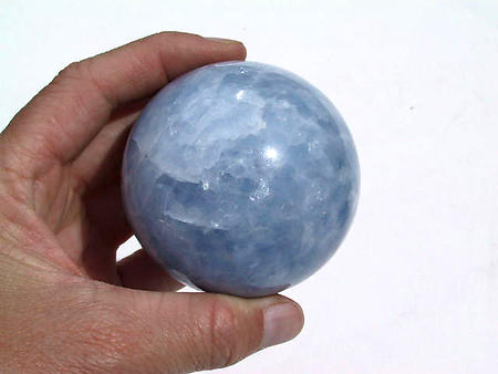 60 mm Blue Calcite Spheres