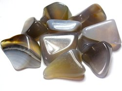 Agate Grey Tumbled Stones - Small (18-25mm) - 1LB