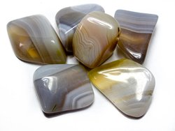 Banded Agate Tumbled Stones - Medium (20-30mm) - 1LB