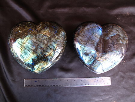 Labradorite Hearts - Very Large (7-8