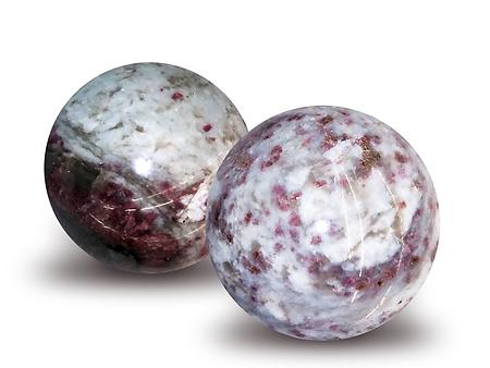 Ruby Tourmaline Spheres 55mm