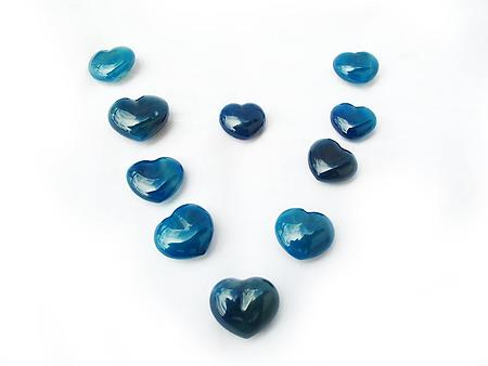 Blue Agate Small Jewelry Heart