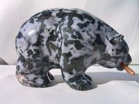 Indigo Gabbro Bear Eating Fish