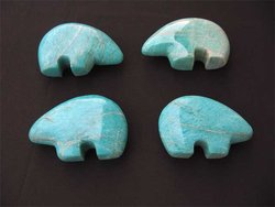 Amazonite Fetish Bear 2flats (36 pcs)