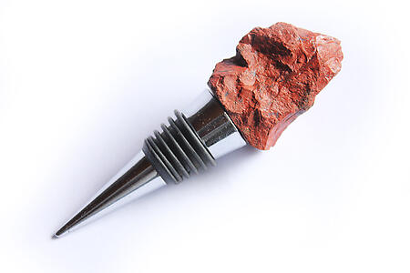 Chestnut Jasper Bottle Stopper - Rough Top