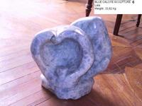 Blue Calcite Sculpture - Abstract