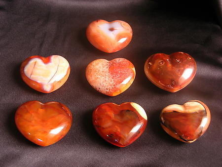 Carnelian Large Decorative Heart