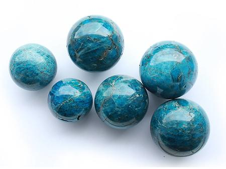Apatite Spheres (40mm) - AA Quality