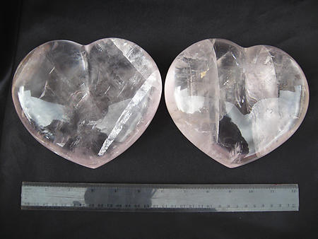 Optical Calcite Heart 7 - 8 inch