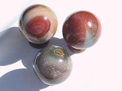 Polychrome Jasper Sphere 60mm - 2pc Lot