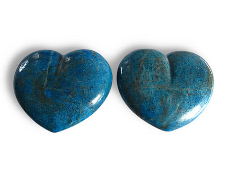 Apatite Large Hearts 7-8inch